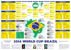 2014 World Cup Wallchart